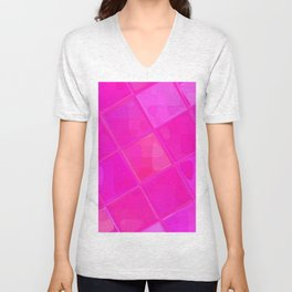 Re-Created Mirrored SQ XCII by Robert S. Lee Unisex V-Neck