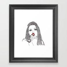 Lindsey Wixson Framed Art Print