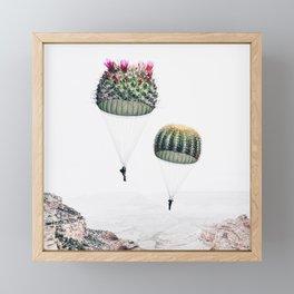 Flying Cacti Framed Mini Art Print