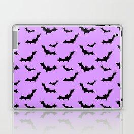 Black Bat Pattern on Purple Laptop & iPad Skin