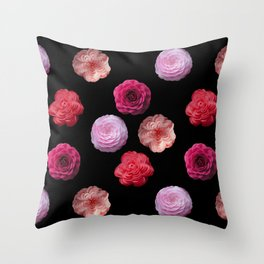 Pattern with camellias Throw Pillow
