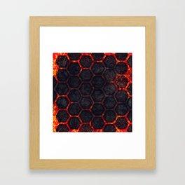 Lava Hexagons Framed Art Print