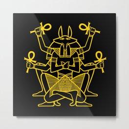 Anubis Rising Metal Print