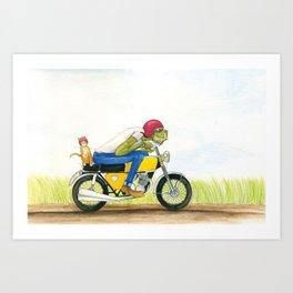 Monster Cycle Art Print