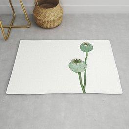 Seasons K Designs Poppy Pods Print  Rug