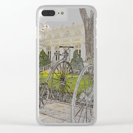 Old time bikes Clear iPhone Case