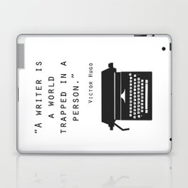 A Writer Is A World Trapped In A Person Laptop & iPad Skin