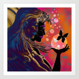 """""""Gossamer & Lotus Dream"""" Art Print"""