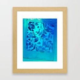 Golden Seaweed #society6 #spring #bluedecor Framed Art Print