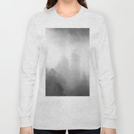 Harmony - Misty Mountain Forest Nature Photography Long Sleeve T-shirt