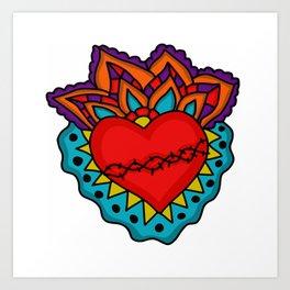 Milagro Corazon Art Print
