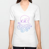 cthulu V-neck T-shirts featuring Call me Cthulu  by KickPunch