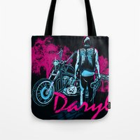 daryl Tote Bags featuring Daryl Drive by Tracey Gurney
