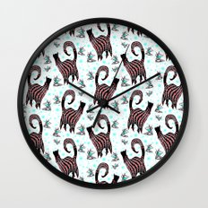 SNOBBY CATS COCKTAILS Wall Clock