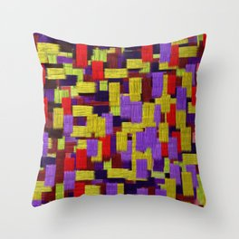Midnight Musings Strong Strokes Throw Pillow