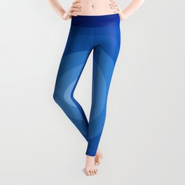 Blue Retro Bullseye Leggings