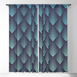 Abstract Watercolor Leafs Pattern Blackout Curtain