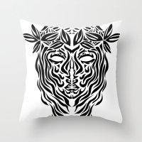 virgo Throw Pillows featuring Virgo by Mario Sayavedra