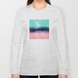 Modern watercolor abstract paint Long Sleeve T-shirt