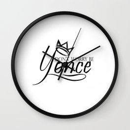 Dont worry, be yonse. Wall Clock