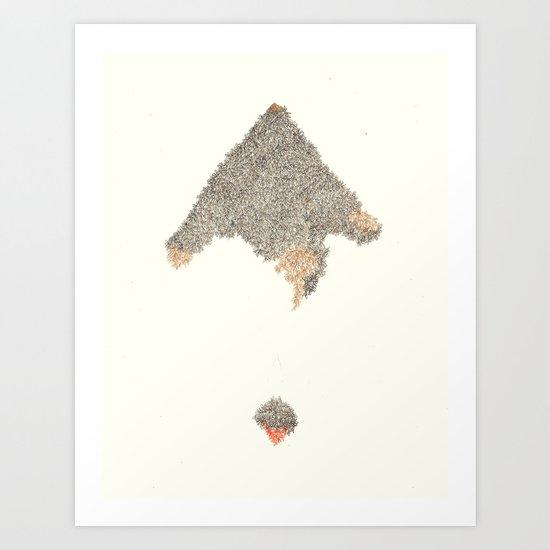 2 Mountains Art Print