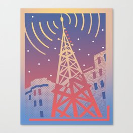Radio Transmission Canvas Print