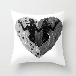 Self Love B/W Throw Pillow
