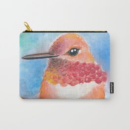 Lady Hummingbird Watercolor Art Carry-All Pouch