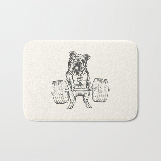English Bulldog Lift Bath Mat