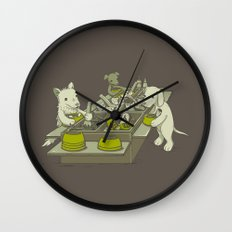 Dog Buffet Wall Clock