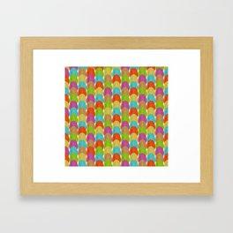 woodgrain eggs Framed Art Print