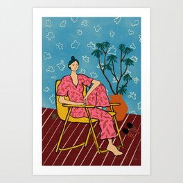 PLANT LADY AT HOME Art Print