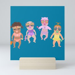 Beach Babies Pattern Mini Art Print