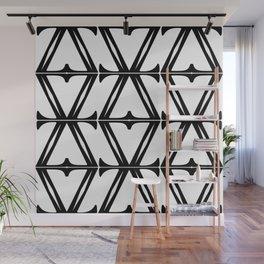 Black & White Fretwork Wall Mural
