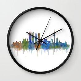 Madrid City Skyline HQ v4 Wall Clock