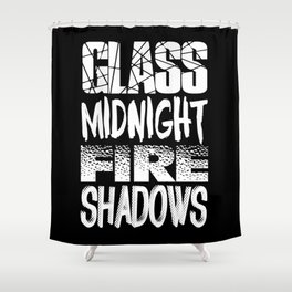 Throne of Glass Series Titles Shower Curtain