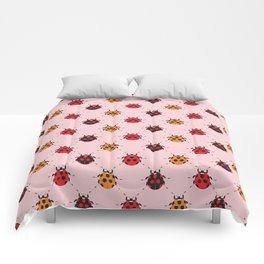 Ladybug Pink Comforters