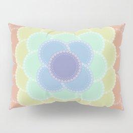 Layered Lace Circles Pillow Sham