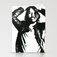 dave grohl Stationery Cards featuring Dave Grohl (1) by Carolyn Campbell