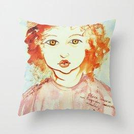 Alice Still In Wonderland Throw Pillow