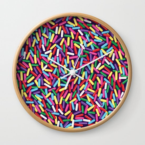 Encrusted With Sprinkles Wall Clock
