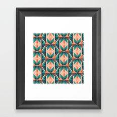 Low Poly Desert Bloom Framed Art Print
