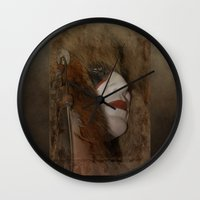 mask Wall Clocks featuring Mask by Judith Lee Folde Photography & Art