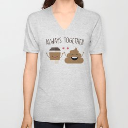 Always Together, Cute, Funny, Quote Unisex V-Neck
