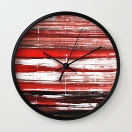 Red-black abstract Wall Clock