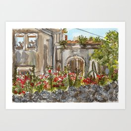 OLD HOUSE Art Print