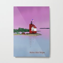 Mackinac Island Lighthouse. Metal Print