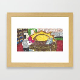 The Sun Has Got His Hat On Framed Art Print
