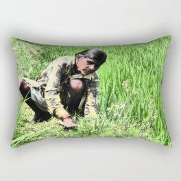 rIcE wOrK Rectangular Pillow