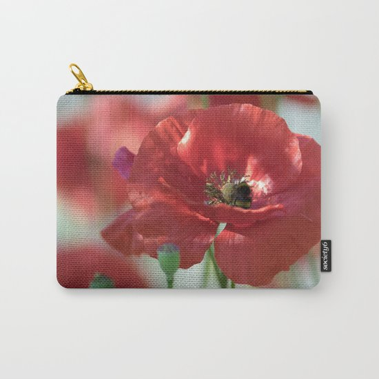 Red poppy Art Carry-All Pouch
